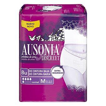 Ausonia discreet Pants para pérdidas de orina de cintura baja talla M 8 ud