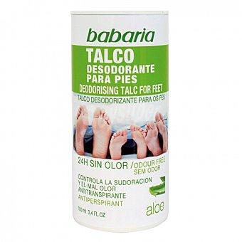 Babaria Talco desodorante para pies aloe 100 ml 100 ml