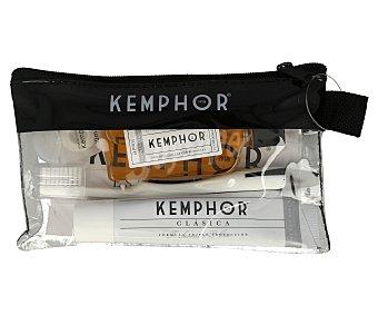 Kemphor Neceser con pasta de dientes fluorada + cepillo de dientes + seda dental + enjuague bucal 1 ud