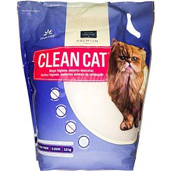 CLEAN CAT Lecho higiénico de larga duración sin olores Paquete 3,6 kg