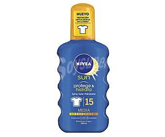 Nivea Emulsión solar hidratante en spray con factor de protección 15 (medio) 200 ml