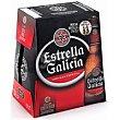 Cerveza botella 6x25cl Estrella Galicia