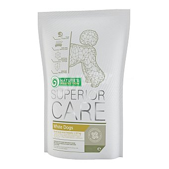 Nature Pienso para perros adultos pequeños y minis Natures Protection White Dogs 's Protec 400 g
