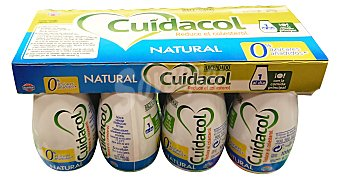 Hacendado Yogur liquido cuidacol natural Botellin pack 8 x 100 g - 800 g