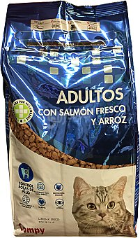 Compy Comida gato croqueta salmón arroz Paquete de 800 g