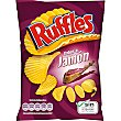 Patatas fritas sabor a jamón onduladas bolsa 45 g Ruffles