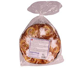 Bolleria Brioche (masa de bollería) rellena de crema 600 gramos