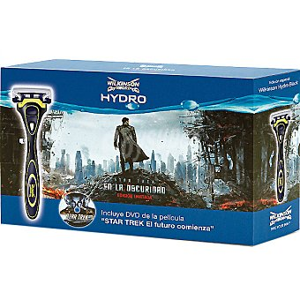 WILKINSON pack de afeitado Hydro 5 compuesto por maquinilla de afeitar + recambio + DVD de la película Star Trek El futuro comienza 4 unidades