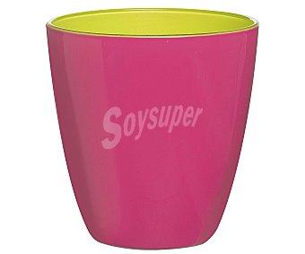 LUMINARC Vaso de cristal con 25 cl de capacidad, diseño liso bicolor rosa-verde con acabado mate modelo Spring Break 1 unidad