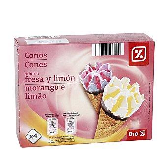 DIA Helado cono fresa y limón pack 4 uds Pack 4 uds