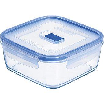 LUMINARC Pure Box Active Hermético cuadrado con tapa transparente y azul 76 cl 76 cl