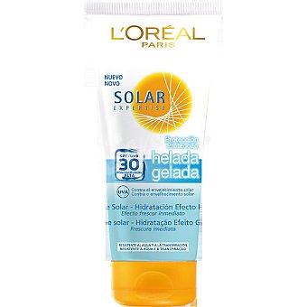 Expertise L'Oréal Paris Leche solar Icy Protect FP-30 efecto frescor inmediato resistente al agua Tubo 200 ml
