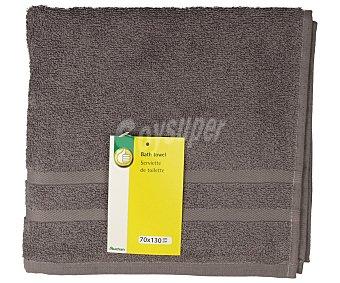 Productos Económicos Alcampo Toalla de ducha color gris, 70x130 centímetros. Toallas 100% algodón y densidad de 360 gramos/m² 1 unidad