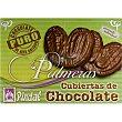 Palmeras cubiertas de chocolate envasadas individualmente caja 6 unidades caja 6 unidades Pindal