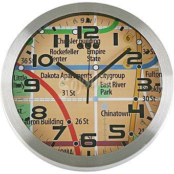 QUO Reloj de pared redondo 30 cm metro Nueva York