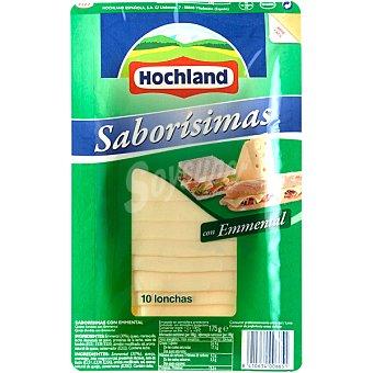 HOCHLAND SABORISIMAS Queso emmental 10 lonchas Envase 175 g