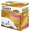 GOLD Doble placer para gato surtido de carnes y pescado caja 12 unidades 85 g caja 12 unidades 85 g Gourmet
