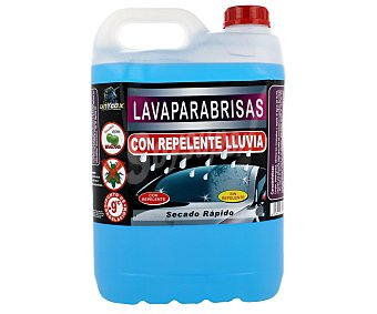 UNYCOX Lavaparabrisas con repelente de insectos y de agua, secado rápido y fresco olor a manzana verde 5 litros