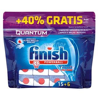 Finish Quantum lavavajillas máquina powerball Bolsa 21 pastillas