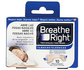 Breathe Right Tiras que abren las fosas nasales 10 uds