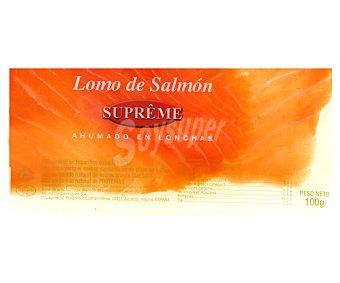 Ahumados Domínguez Lomo Salmón Ahumado Supreme en Lonchas 100 Gramos
