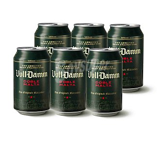Voll-Damm Cerveza doble malta  Pack 6 u x 330 ml