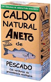 ANETO Caldo natural de pescado con verduras de procedencia ecologica envase 1 l