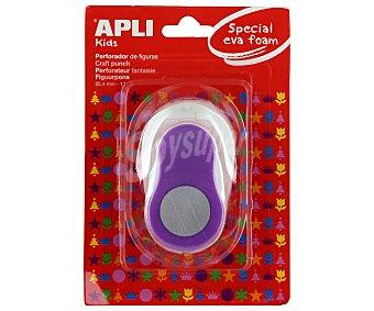 Appli Perforadora de goma eva de color lila y con forma de círculo apli