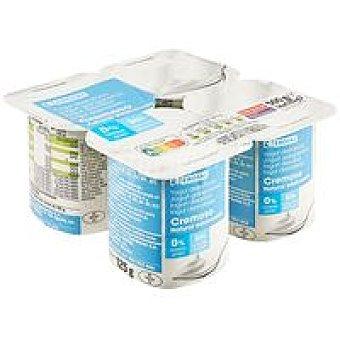 Eroski Yogur natural cremoso edulcorado 0% Pack 4 x 125 g