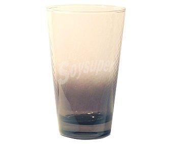 PASABAHCE Vaso de refrescos y agua modelo Petek, con capacidad de 40 centílitros, de color negro efecto degradado 1 Unidad