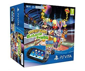 Sony Videoconsola portatil Playstation Vita con tarjeta de memoria de 8 Gb más juego Looney Tunes Galactic Sports 1 unidad