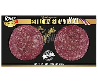 ROLER Summumm Hamburguesas de vacuno, estilo americana, sin conservantes ni colorantes XXL 2 x 200 g