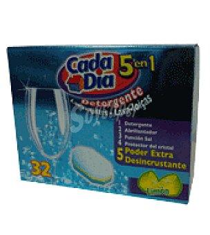 Cada Día Detergente lavavajillas 5 en 1 32 ud