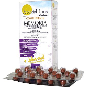 Special Line Complemento alimenticio para estudiantes Memoria Envase 30 capsulas
