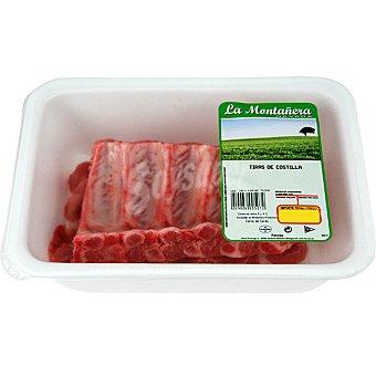 LA MONTAÑERA Costillas frescas de cerdo en tiras bandeja 500 g pero paroximado Bandeja 500 g