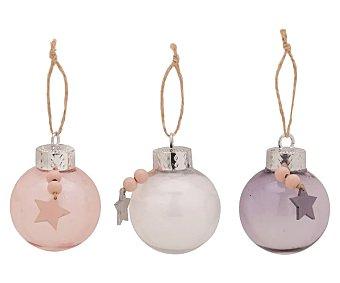 Actuel Bola para árbol de navidad transparente con estrella decorativa, tamaño 5,8 centímetros, actuel.