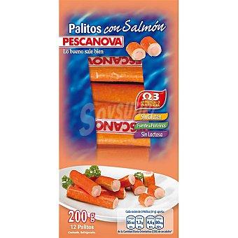 PESCANOVA palitos de surimi con salmón envase 200 g 12 unidades
