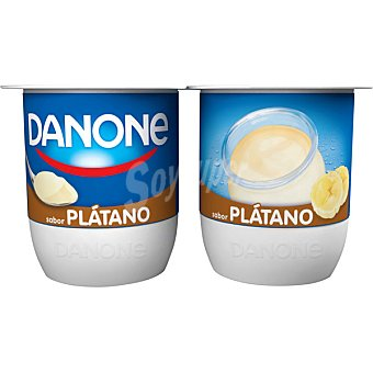 DANONE Yogur sabor plátano  4 unidades de 120 g