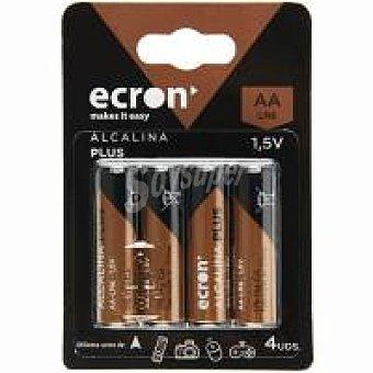 Ecron Pila alcalina LR06 (aa) ecron+ Pack 4 uds