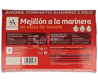 Angulas Aguinaga Mejillón a la marinera en salsa de tomate Bandeja de 1 kg