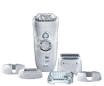 Braun Depiladora, uso sin cable, 40 pinzas, 2 velocidades, uso en húmedo y seco, luz, 40 minutos de autonomía, incluye 5 accesorios silk-epil 7561