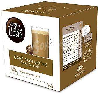 Dolce Gusto Nescafé Café con leche (leche en polvo y café soluble) en monodosis 16 uds