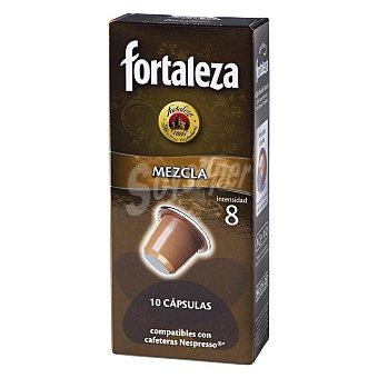 Fortaleza Cápsulas Café Mezcla Compatibles con Máquinas Nespresso 10 c - Caja 50 g