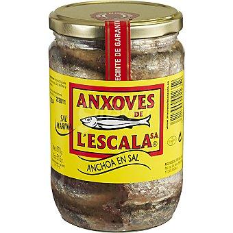 ANXOVES DE L'ESCALA filetes de anchoa en salazón frasco 515 g neto escurrido