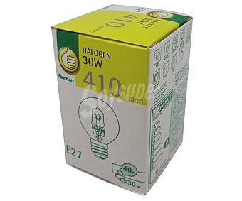 PRODUCTO ECONÓMICO ALCAMPO Bombilla ecohalógena esférica 30W, E27, Luz cálida 1 Unidad