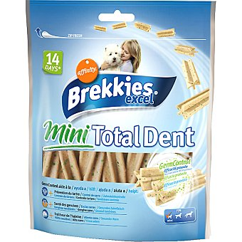 Brekkies Affinity Sticks para el control de sarro para perro Mini Total Dent Excel Paquete 60 g