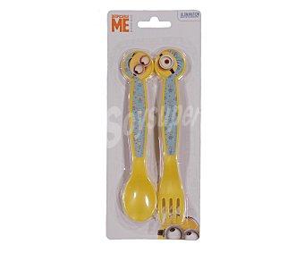 Illumination Conjunto de cuchara y tenedor infantiles con diseño de Minions 1 unidad