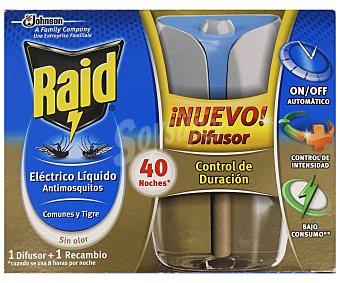Raid Insecticida eléctrico líquido antimosquitos 40 noches Aparato + recambio
