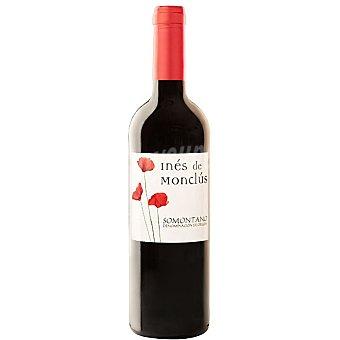 Ines de monclus Vino tinto tempranillo cabernet D.O. Somontano Botella 75 cl