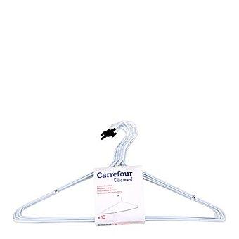 Carrefour Perchas metálicas 10 ud